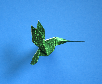 Origami: Hummingbird - Instructions in English (BR) - YouTube | 331x400